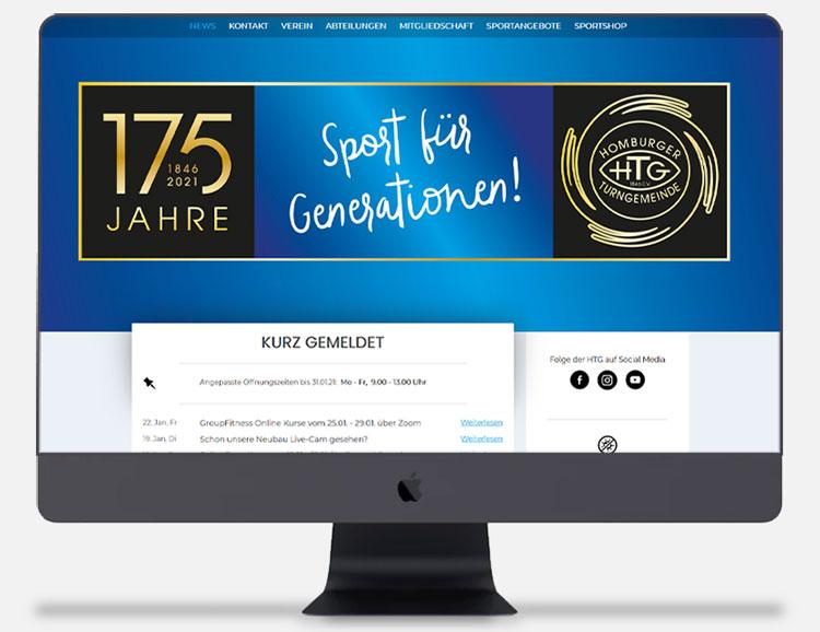 Cyberry Webdesign Referenzen HTG Homburger Turngemeinde